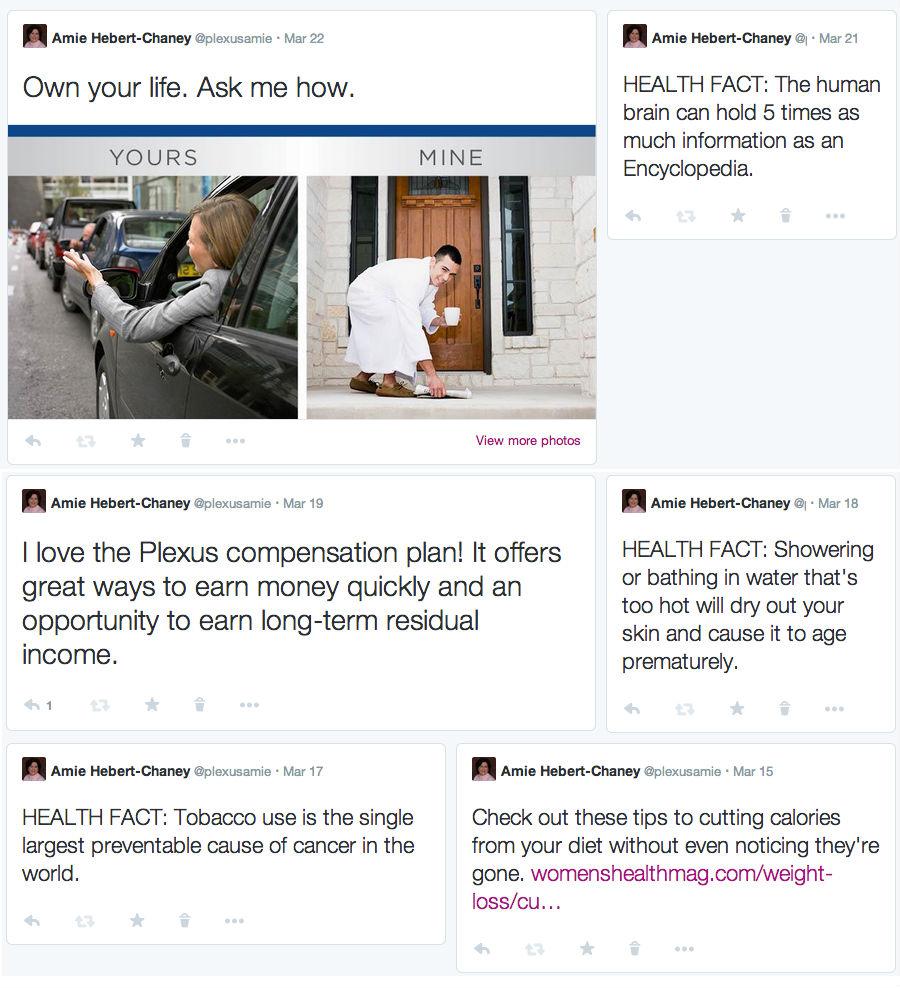 Twitter newsfeed Chrome
