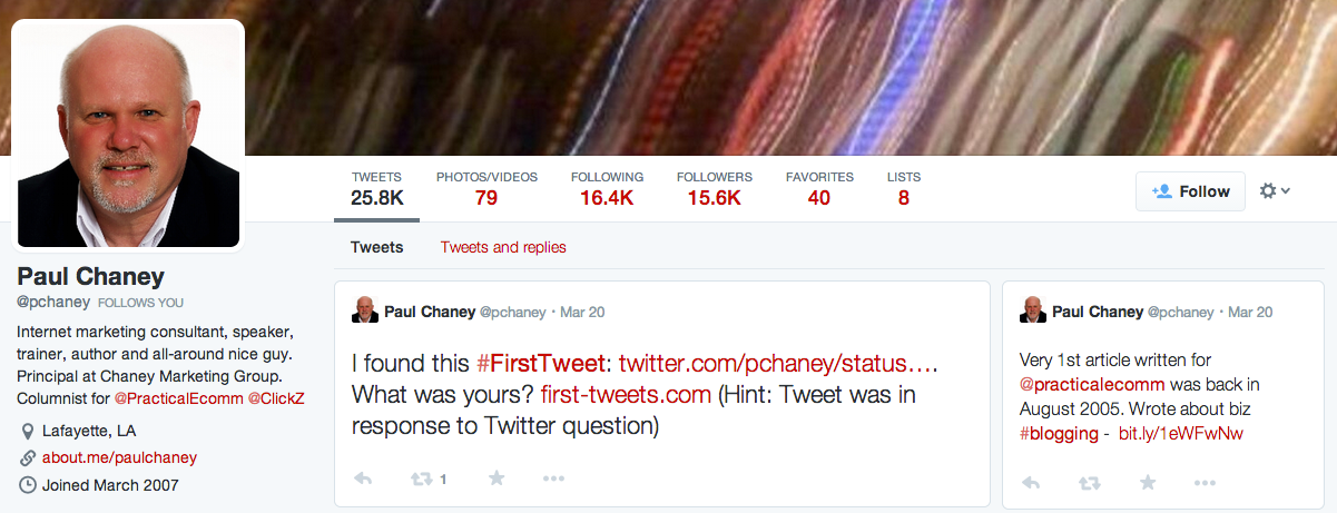 Twitter Paul Chaney