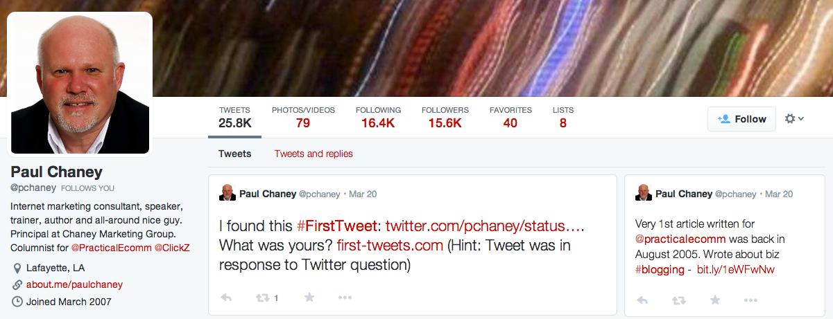 Twitter Paul Chaney
