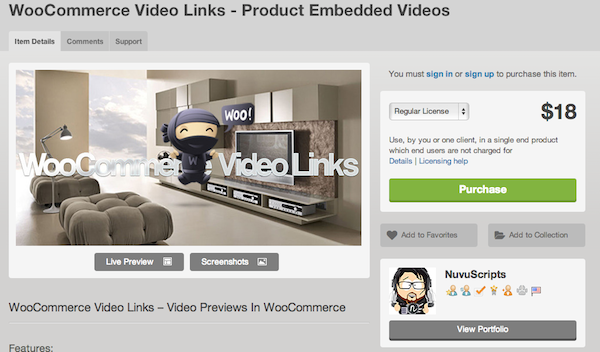 WooCommerce Embedded Video