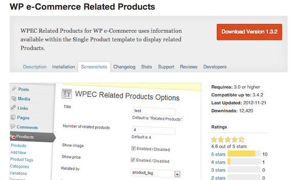 WP e-Commerce Related