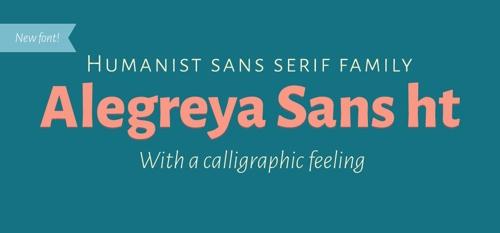 Alegreya Sans font