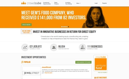 CrowdCube website