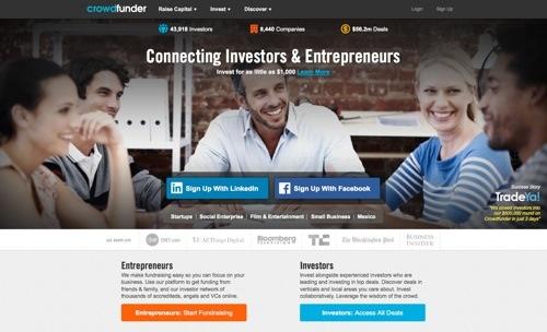 Crowdfunder website
