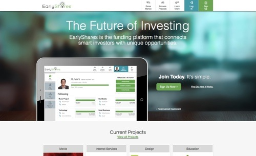 EarlyShares website