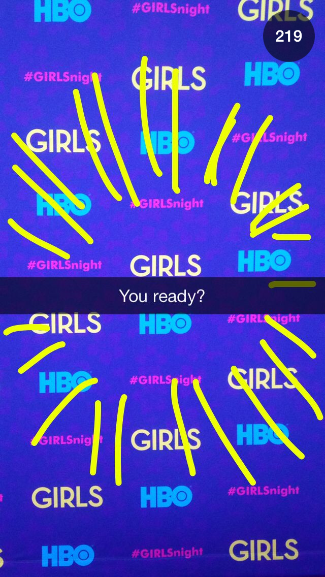 HBO 'Girls' Snapchat