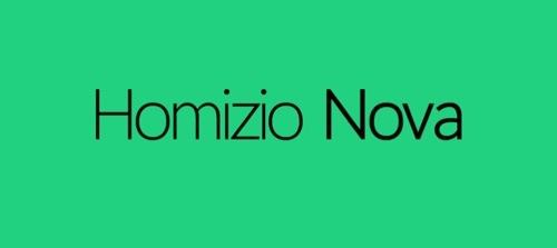 Homizio Nova font