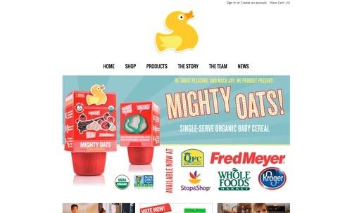 Little Duck Organics website