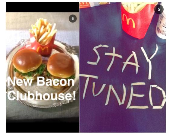 McDonalds on Snapchat