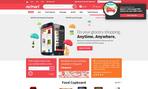 RedMart website