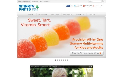 SmartyPants Vitamins website