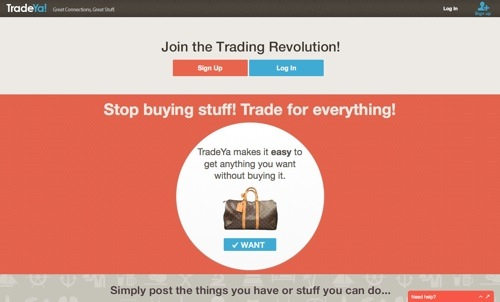 TradeYa website