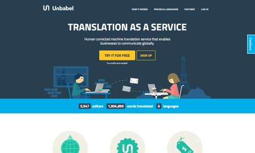 Unbabel website