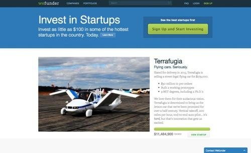 Wefunder website