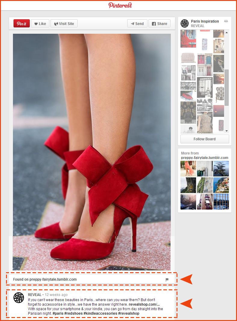 Red shoe back link.