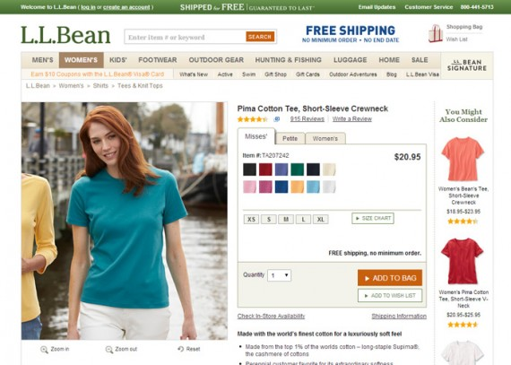 L.L. Bean cotton t-shirt