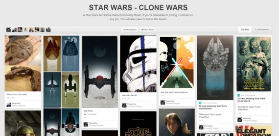 Pinterest Star Wars clone board.