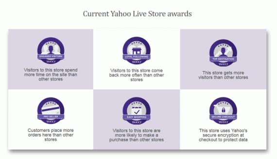 Yahoo Live Store awards.