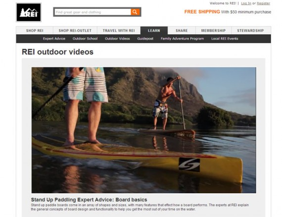 REI's videos are instructional, helping consumers use the products that REI sells.