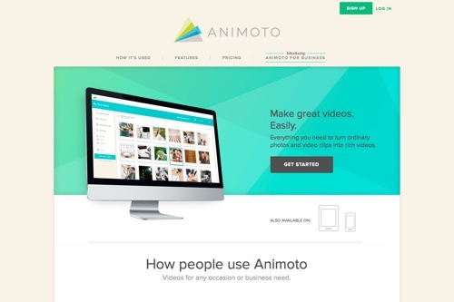 Animoto website