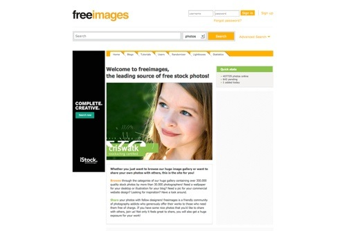 Freeimages website