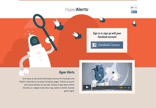 Hyper Alerts website