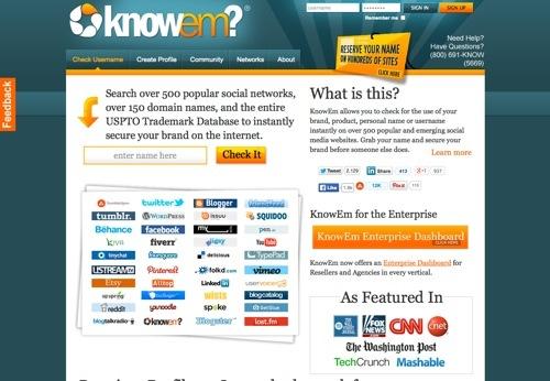 KnowEm website