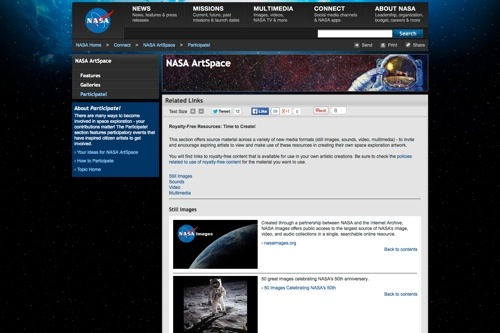 NASA ArtSpace website