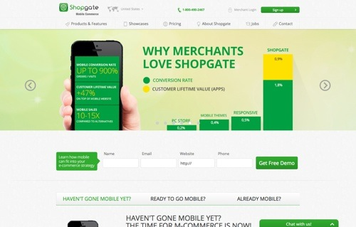Shopgate website