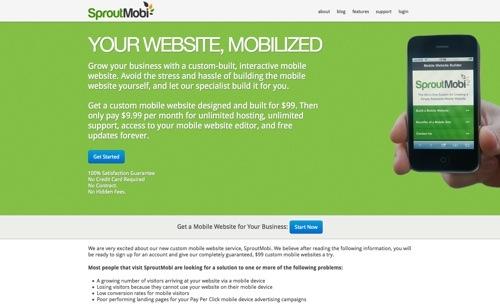 SproutMobi website