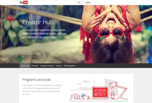 YouTube Creator Hub website