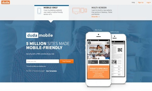 DudaMobile website
