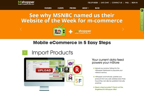 mShopper website