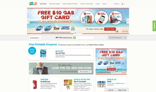 Coupons.com website