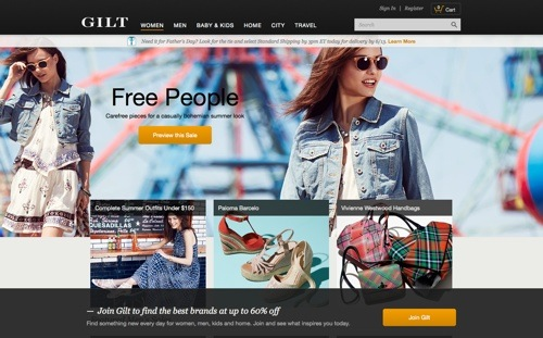 Gilt website