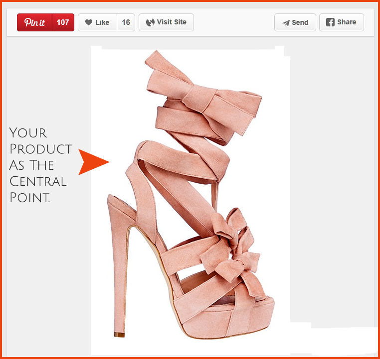 Use little background space to increase clicks on your pin.