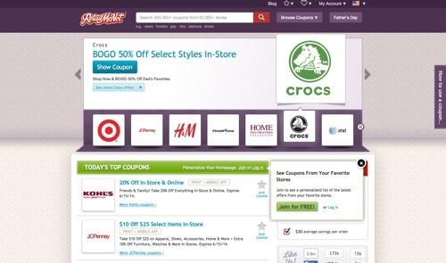 RetailMeNot website