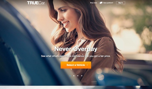 TrueCar website