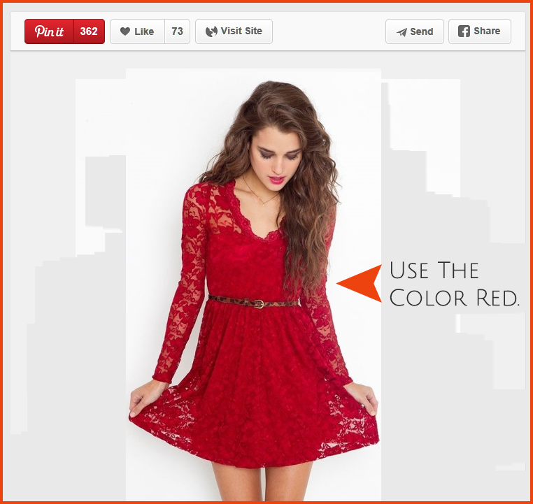 Images that contain the color red receive more engagement, according to Curalate.