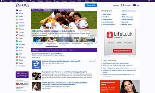 Yahoo! website