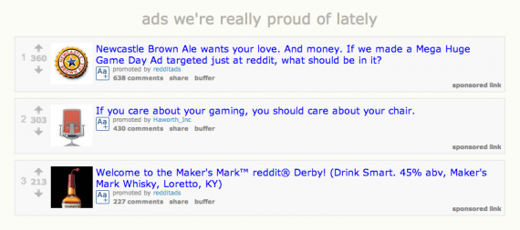 Some Reddit ad examples.