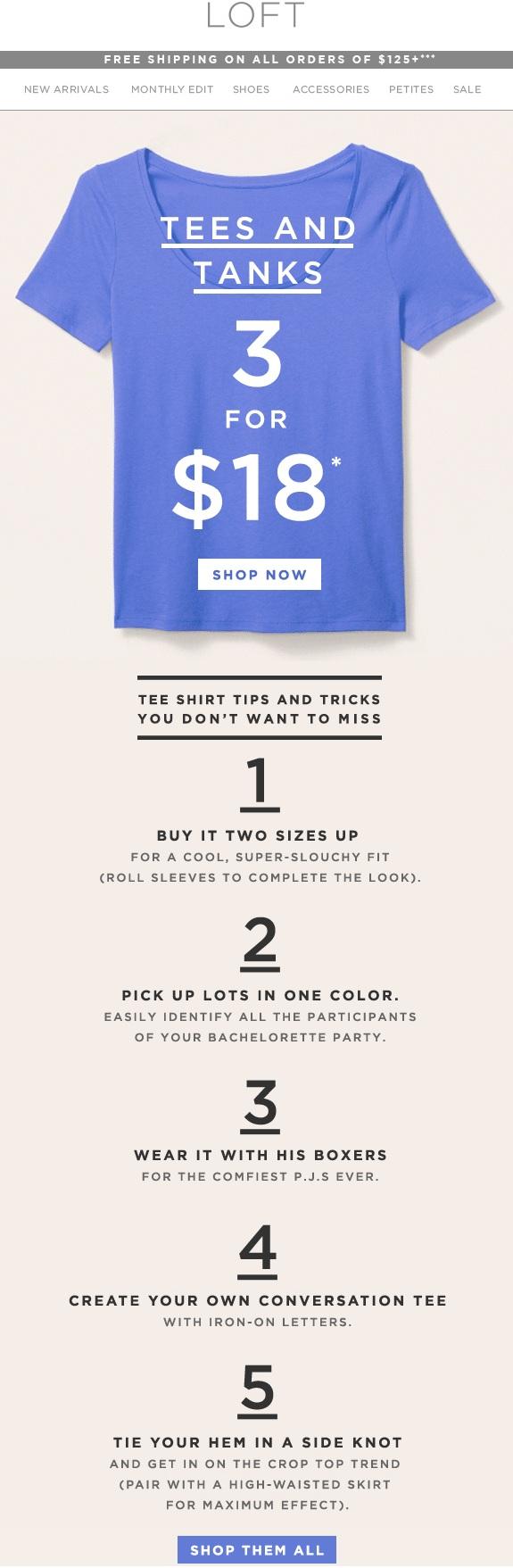 LOFT t-shirt ideas.