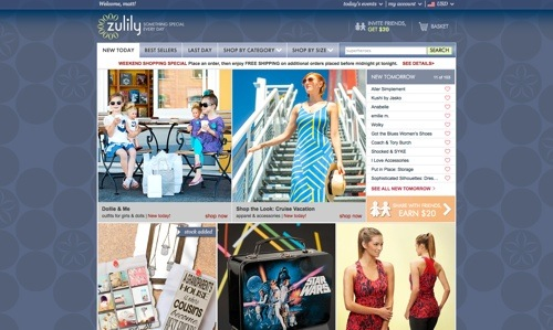zulily website