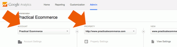 It is possible to have several accounts and properties in Google Analytics.