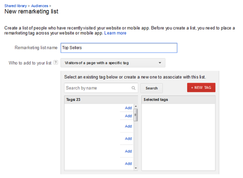 """Remarketing Lists for Search Ads"" allow you to target past visitors when they are searching in Google."