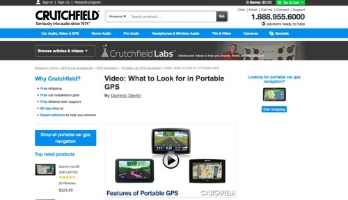 "Crutchfield: ""What to Look for in Portable GPS."""