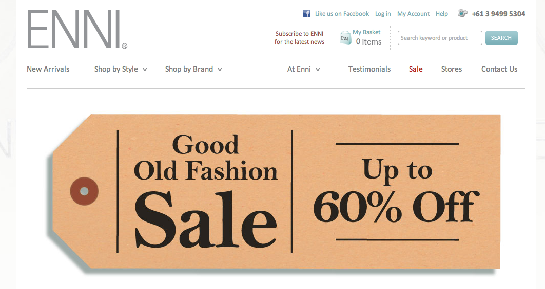 Enni's online annual sales exceed $300,000 since launching in 2011.