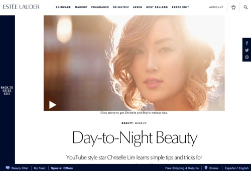 Estee Lauder: Day-to-Night Beauty.