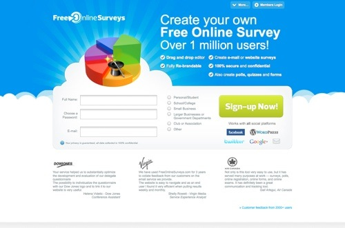 FreeOnlineSurveys website
