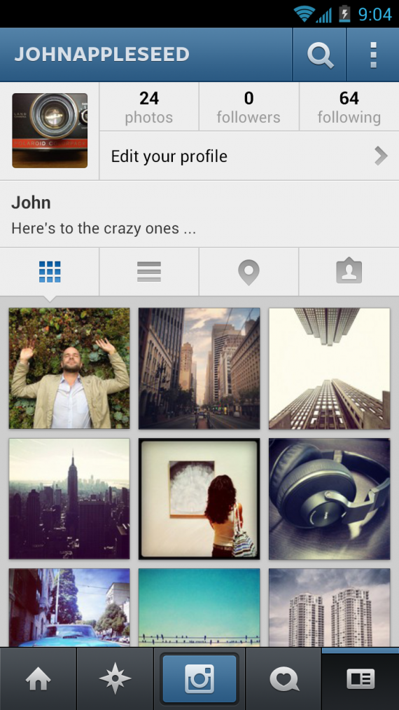 Instagram inspires users through creative photos and video.